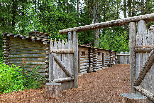 Gate to Log Camp at Fort Clatsop by David Gn