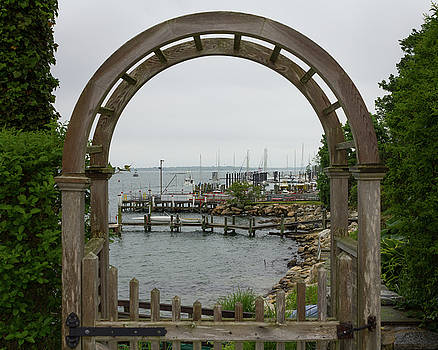 Gate to Noank Harbor by Kirkodd Photography Of New England