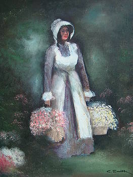 Gathering Flowers by Charles Roy Smith