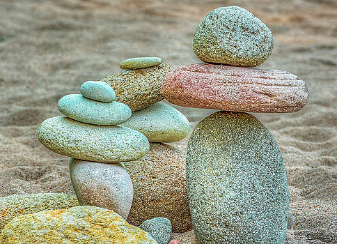 Gathering of River Rock by Dee Browning