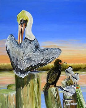 Gathering Of The Locals by Phyllis Beiser
