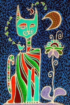 Gato Flaco Azul by Sandra Perez-Ramos
