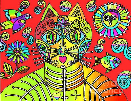 Gatos Naranja by Lydia L Kramer