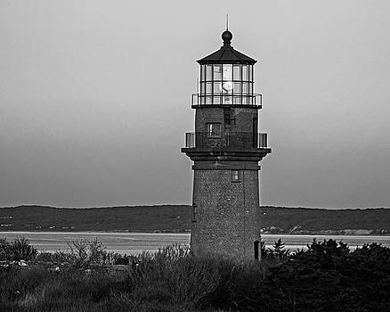 Gay Head Lighthouse Aquinnah, Massachusetts Cape Cod Black and White by Toby McGuire