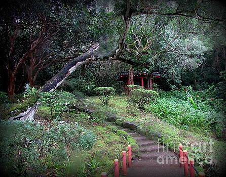 Gazebo on grounds in Oahu by Joy Patzner