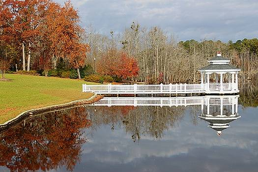 Gazebo on the Lake by Carol Turner