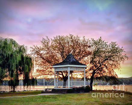 Gazebo Sunrise at Claytor Lake by Kerri Farley