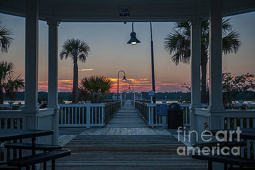 Dale Powell - Gazebo Sunset View