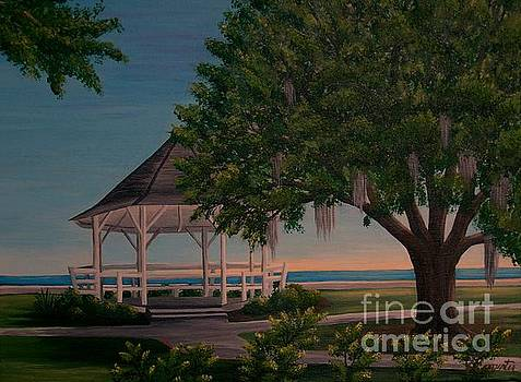 Gazeebo at the Lake by Valerie Carpenter