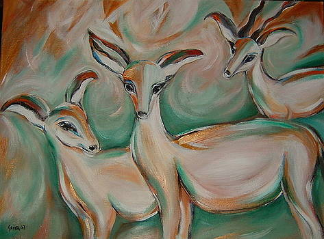 Gazelles by Gayatri Manchanda