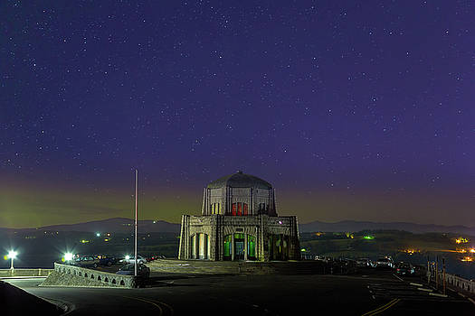 Gazing Stars at Vista House on Crown Point by David Gn