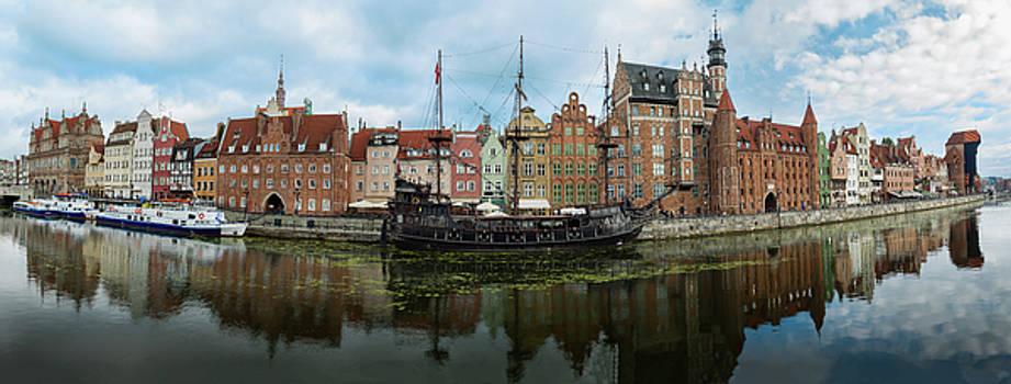 Gdansk Poland Historic Riverfront by Steve Gadomski