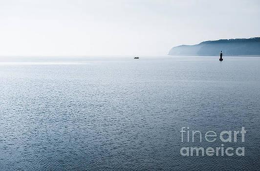Gdynia calming Baltic Sea horizon by Arletta Cwalina