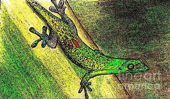 Gecko on the Green by Theresa Willingham