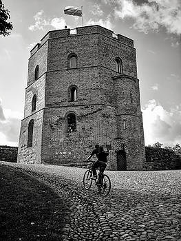 Mary Lee Dereske - Gediminas Tower and Bicycler Lithuania