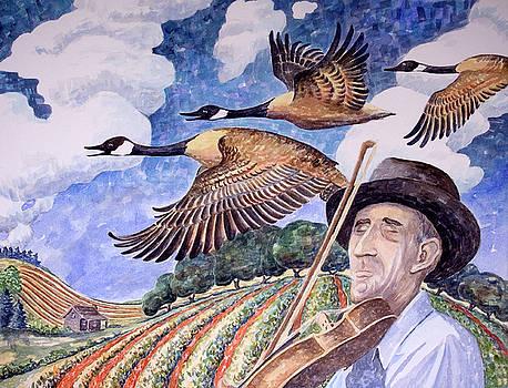 Geese Honking by Paula Blasius McHugh