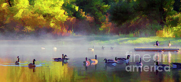 Chuck Kuhn - Geese Paint Color Nature