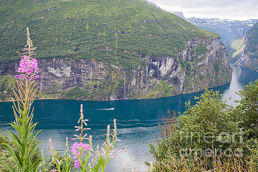 Geirangerfjord Norway View from Eagle Road by Christy Woodrow