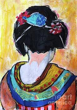 Geisha girl  by Corina Stupu Thomas