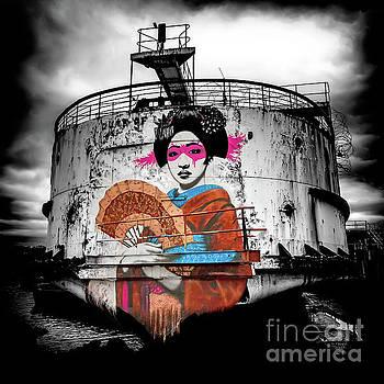 Geisha Graffiti by Adrian Evans