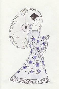 Geisha in Bloom by Christine Corretti