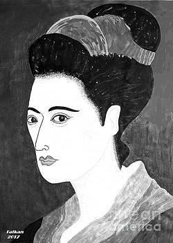 Geisha In Kyoto By Taikan by Taikan Nishimoto