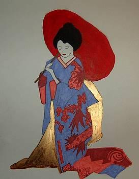 Geisha with Parasol by Andrea Harston