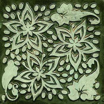 Sandra Foster - Gelli Print In Green Abstract