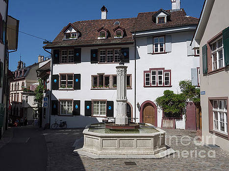 Gemsberg Square in Old town Basel Switzerland by Louise Heusinkveld
