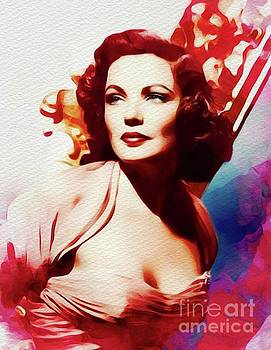 John Springfield - Gene Tierney, Vintage Movie Star