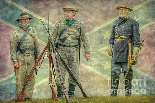 General Lee Reviews the Troops Flag Version by Randy Steele