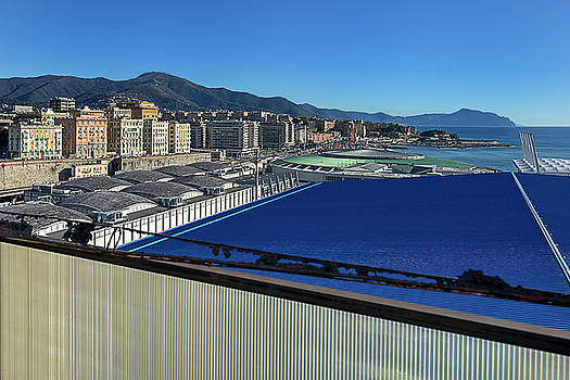 Genova Town Landscape From Abandoned Office Building Roof by Enrico Pelos
