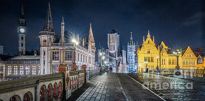Gent at Night by JR Photography