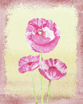 Gentle Pink Floral Decor by Irina Sztukowski