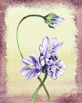 Gentle Purple Floral Decor by Irina Sztukowski