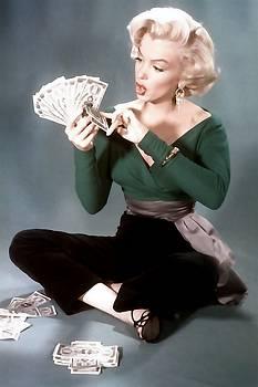 GENTLEMEN PREFER BLONDES Movie Art Staring Marilyn Monroe by R Muirhead Art