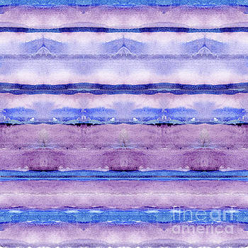 Geode Inspired Tribal Blanket Focal Striped Pattern in Watercolor by Audrey Jeanne Roberts