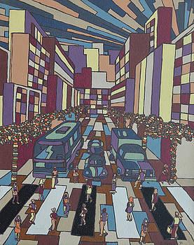 Geometric city Il by Muniz Filho