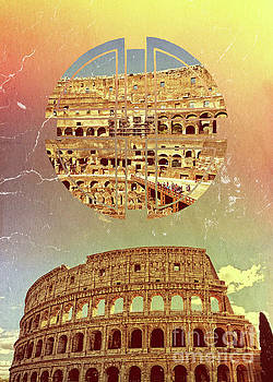 Geometric Colosseum Rome Italy Historical Monument by Beverly Claire Kaiya