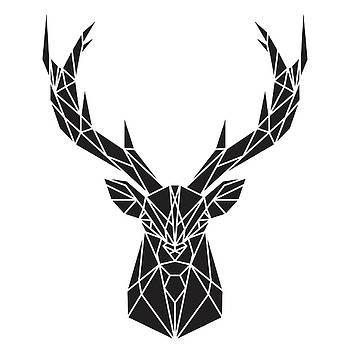 Geometric Deer Head by Atelier B Art Studio