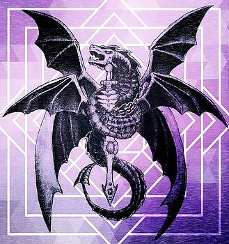Geometric Dragon Design by Hailey  Carter