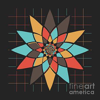 Geometric flower by Gaspar Avila