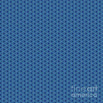 Geometric Peacock Blue Pattern by Alisha at AlishaDawnCreations