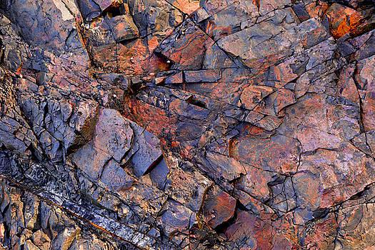 Geometric Rock Face by Lorna Rande