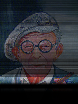 George Burns by Irene Schilling