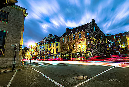 George Street and Water Street Light Trail by Gord Follett