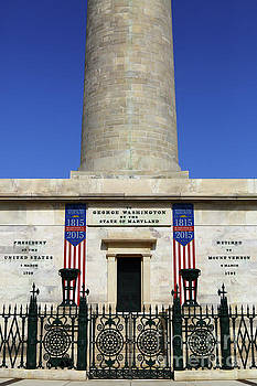 George Washington Monument Baltimore by James Brunker