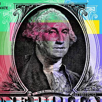 George Washington Pop Art by Jean luc Comperat