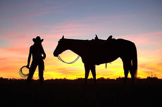 Georgia Cowgirl's Sunset by Laura Greene