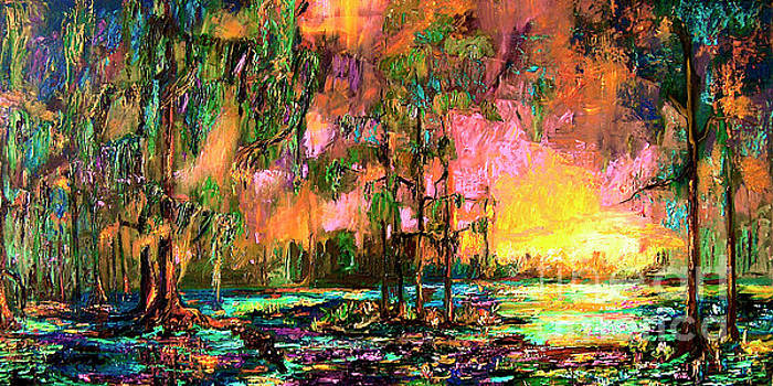 Ginette Callaway - Georgia landscape Okefenokee Sunset